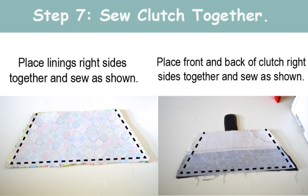 Sew CLutch together