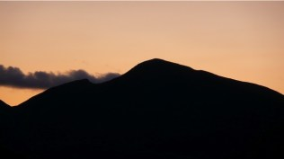 sunset over the fells