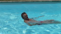 Dod relaxing in the pool