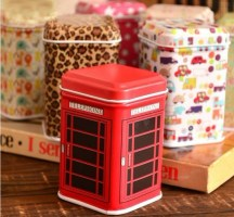 Mini jewelry box candy storage box square tin