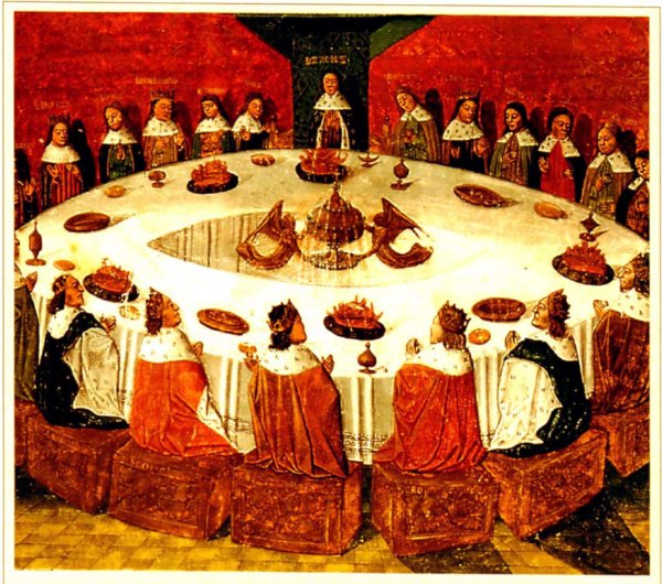 knights at a large round table