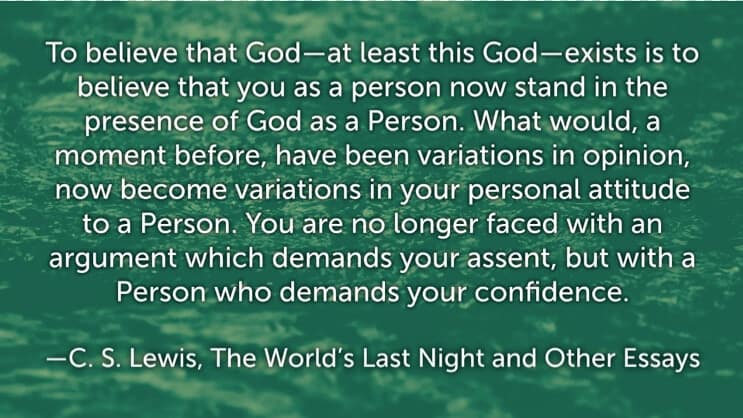 C. S. Lewis quotes on God