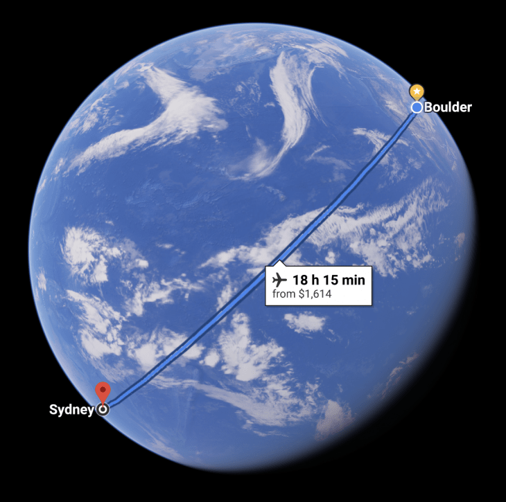 Distance Between Sydney And Boulder