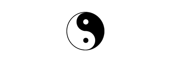 Completed Yin-Yang Symbol Built With Pure CSS