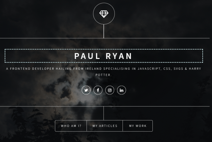 Background Image Contrast on Paul Ryan Codes Website