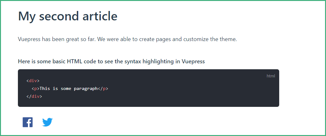 Adding Plugins to the Article Page With VuePress
