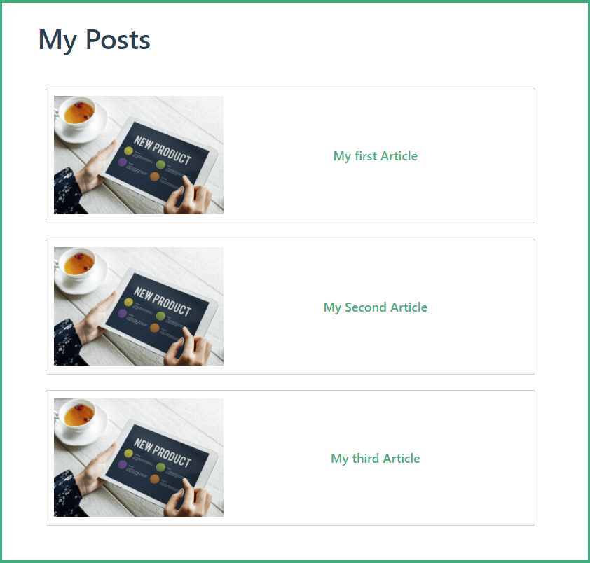 Posts Page Created With VuePress