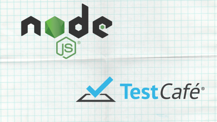 An image of the Node.js logo and the testcafe logo.