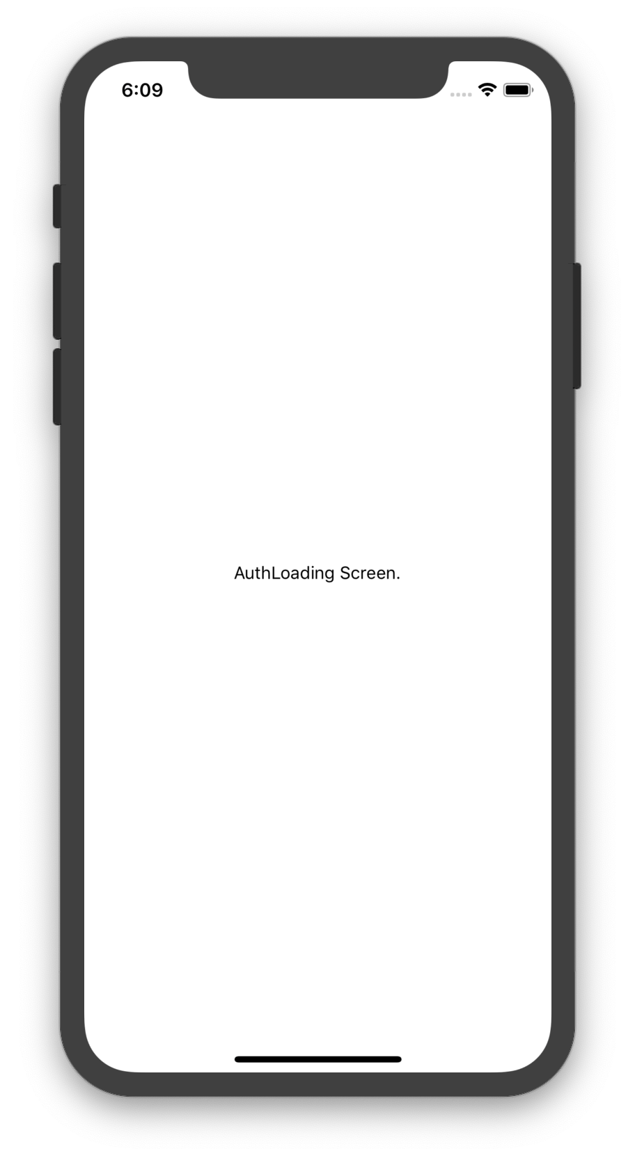 Auth loading screen in react native app