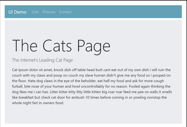 Bootstrap Vue cat homepage