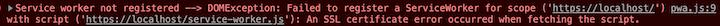 Service Worker Registration Error
