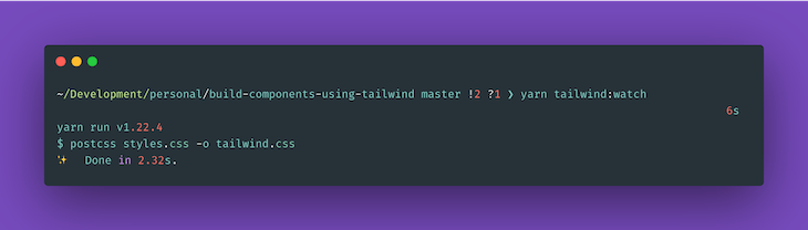 Generating Our tailwind.css File With postcss-cli