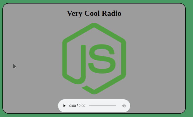 Finished Webpage For Our Online Radio