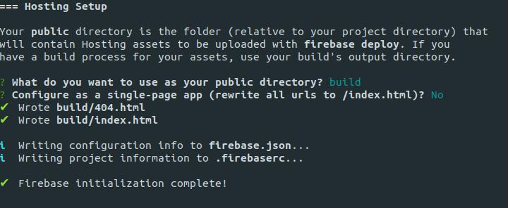 Firebase Hosting Configuration