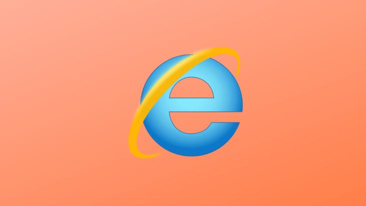 The internet explorer logo.