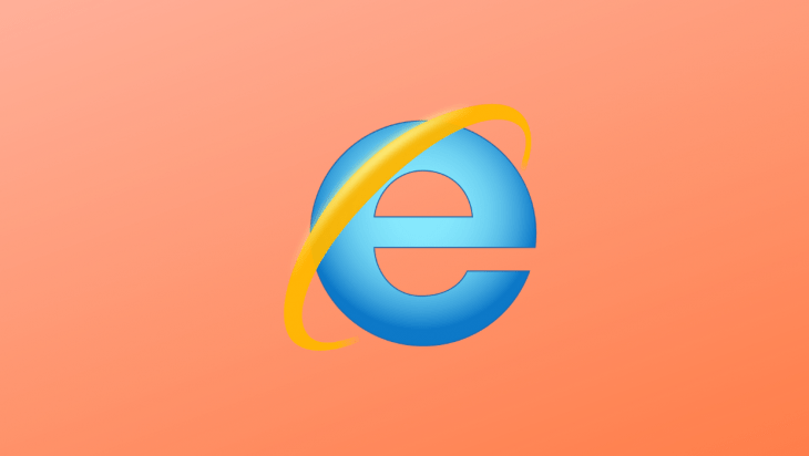 The internet explorer logo.