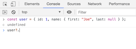 optional chaining in chrome 84