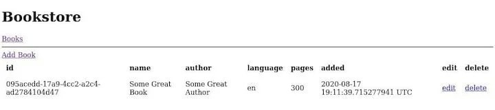 Bookstore App Example