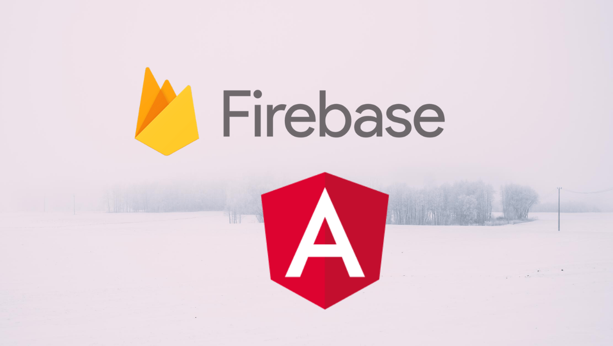 Firebase and Angular logo.