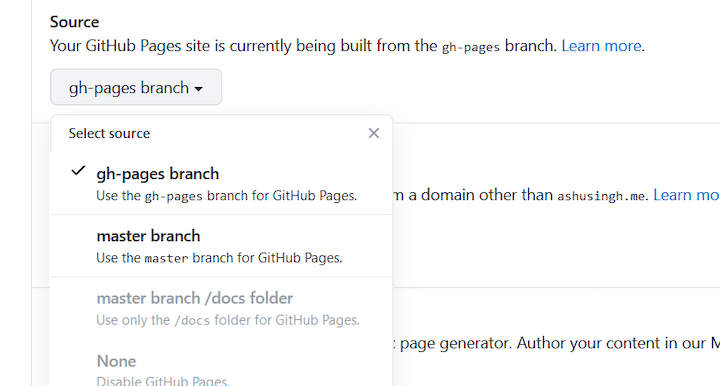gh-pages Branch