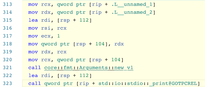Reveal Linked Code