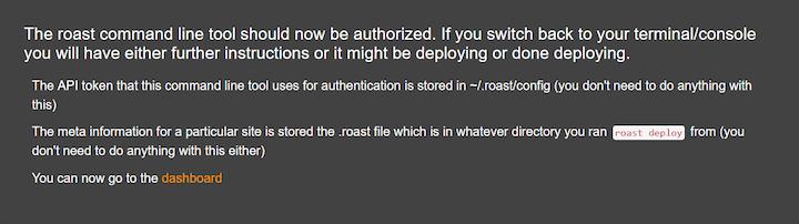 Roast Authentication