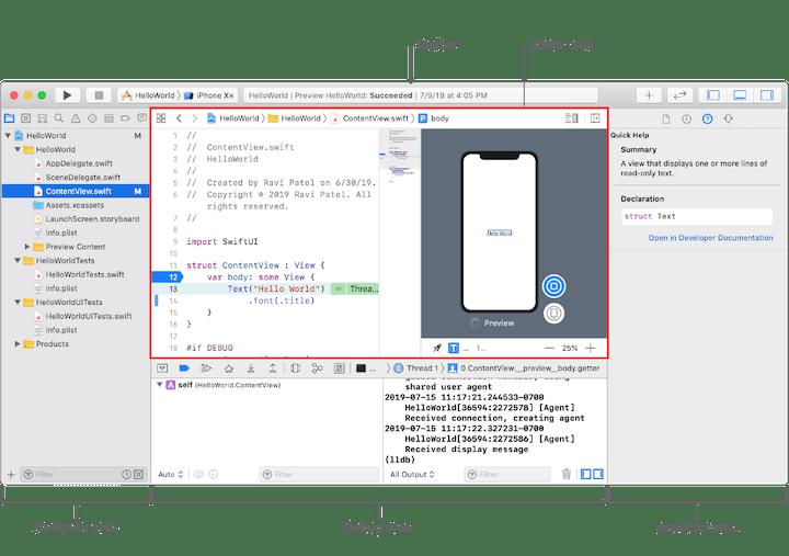 Xcode Navigator Window