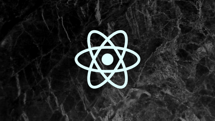 The React logo.