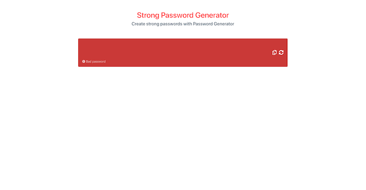 Generate a New Password