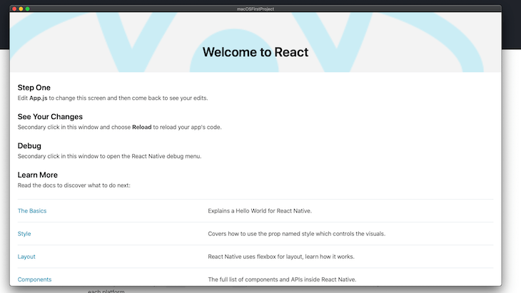 Running Our React Native App