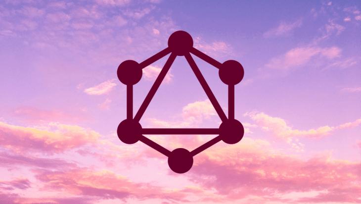 GraphQL logo over a sky background.