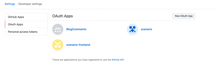OAuth App GitHub Issues Authentication