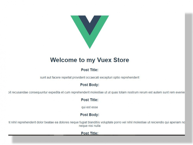 Vuex Store application created