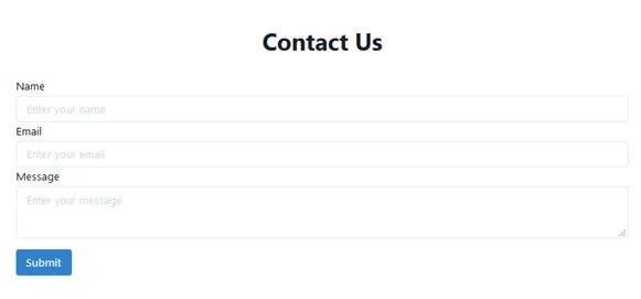 Bumbag UI contact form