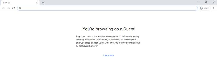 Chrome guest mode.