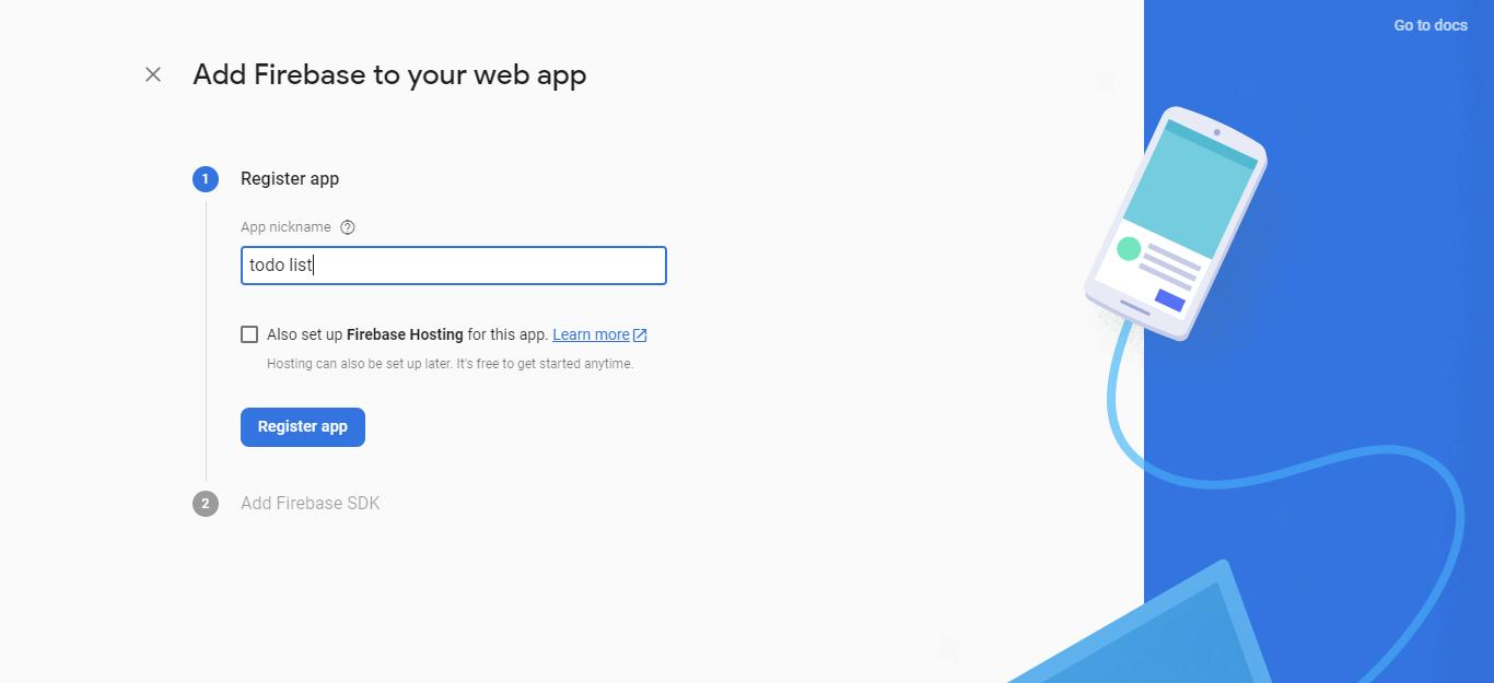 Register the app