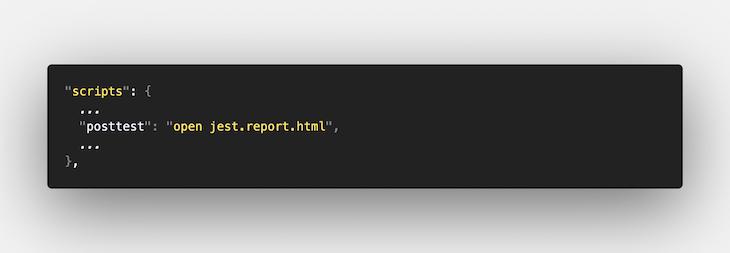 Adding Reporter in the Post-test Script