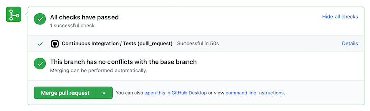Successful Execution of the Pipeline in GitHub Actions