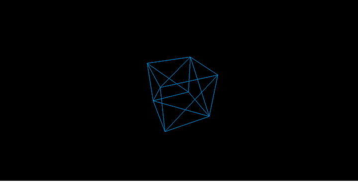 Cube Wireframe in Three.js