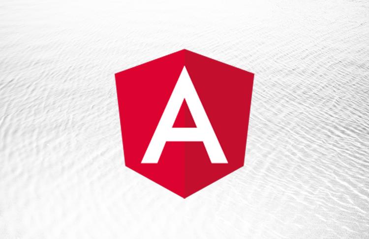The Angular logo over a white background.