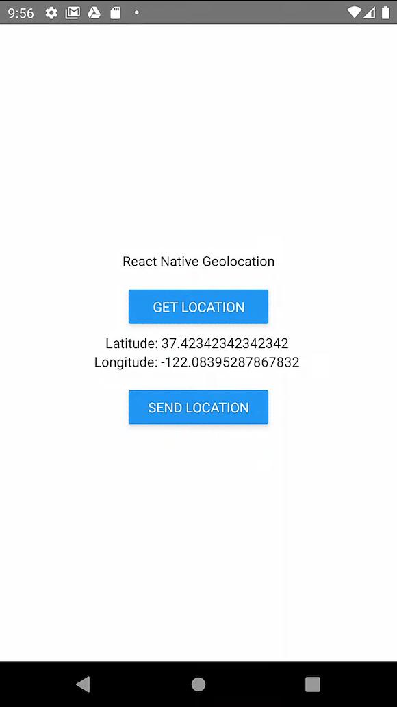 React Native Geolocation App Example