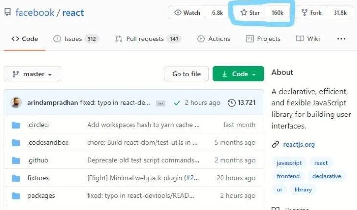 React Stars on GitHub