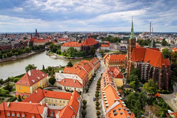 foto aerea di Breslavia