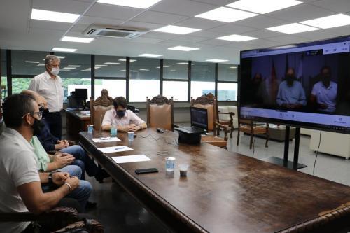 12.02.2021 Reunião virtual com representantes da Câmara Municipal sobre o Plano Diretor - Fotos Vivian Honorato