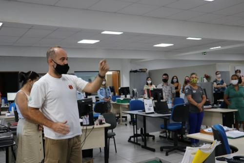 19.02.2021 Treinamento de brigada de incêndio na Secretaria de Educação - Fotos Vivian Honorato