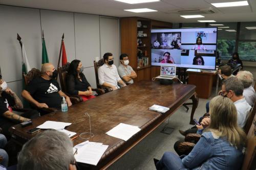 05.03.2021 Reunião com vereadores sobre consórcio para compra de vacina - Fotos Vivian Honorato