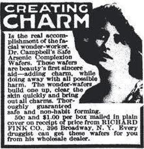 Arsenic Wafer's Advertisement, Public Domain