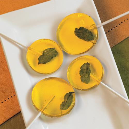 Pineapple Mojito Lollipops