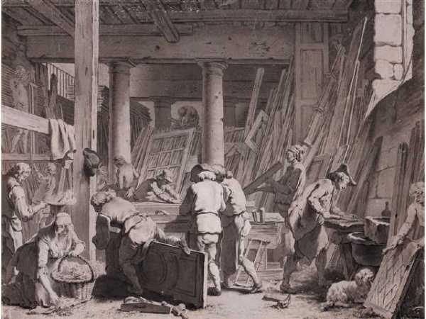 AMAND Jacques-François (1730-1769) : L'atelier du Sieur Jadot