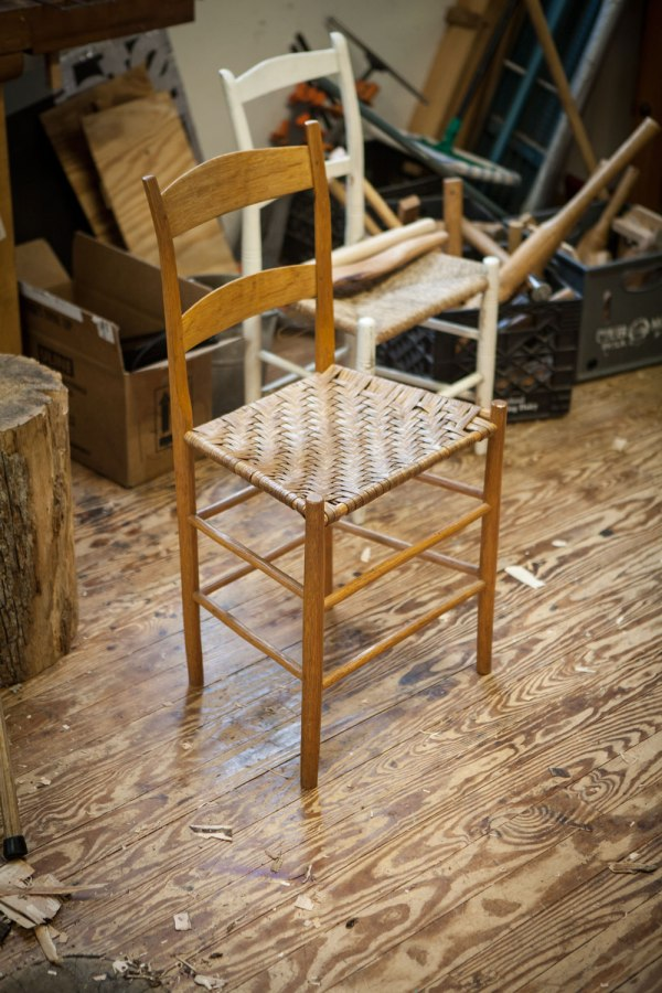 "A chair made by Jennie Alexander, author of ""Make a Chair from a Tree."""